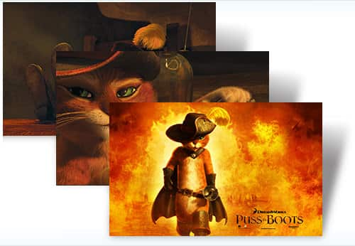 Puss In Boots Theme For Windows 7